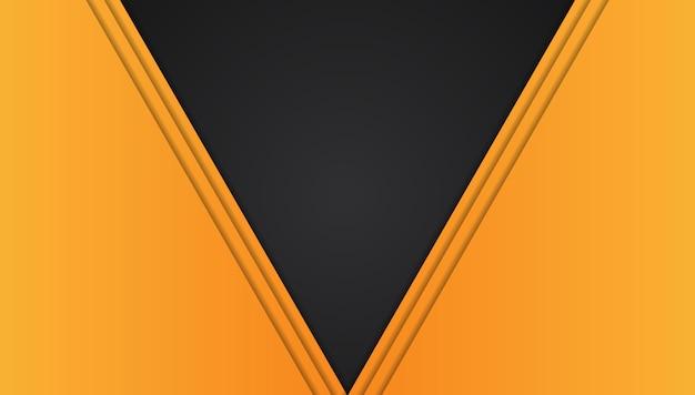 オレンジイエローとブラックの抽象的なメタリックフレーム Premiumベクター
