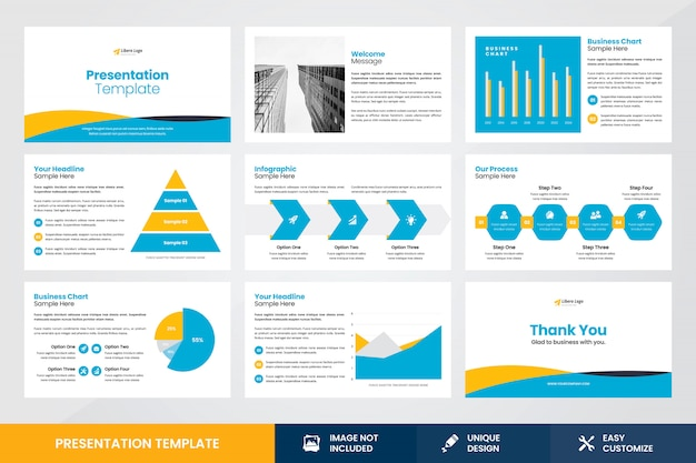Шаблон элемента дизайна бизнес-презентации инфографики Premium векторы