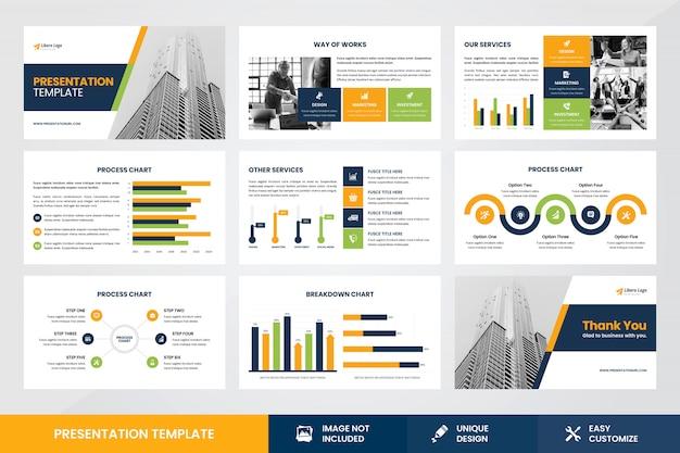 ビジネスプレゼンテーションデザインインフォグラフィック要素テンプレート Premiumベクター