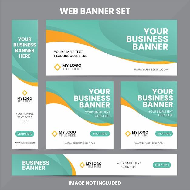 Современный шаблон веб-баннера Premium векторы