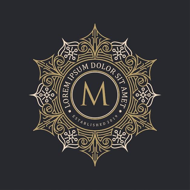 装飾的なロゴデザイン Premiumベクター