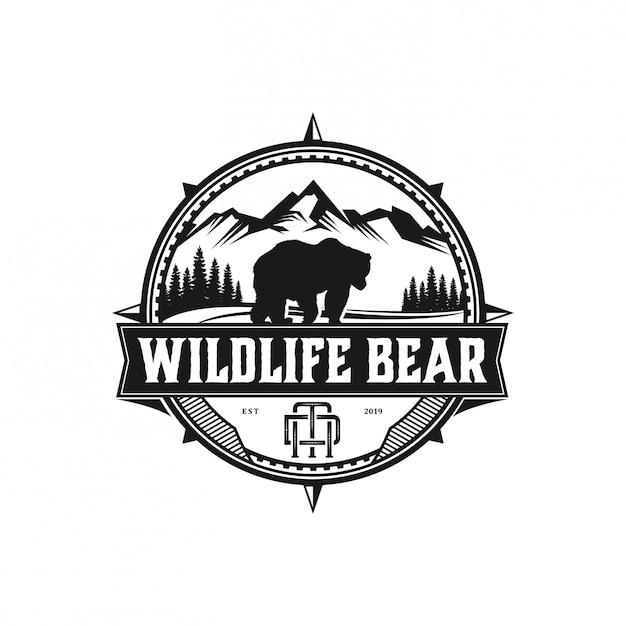 野生動物の冒険とアウトドアを楽しもう Premiumベクター