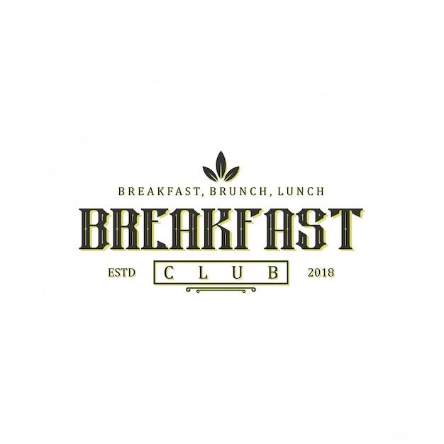 朝食ロゴデザイン Premiumベクター