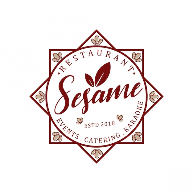 Сезонный марочный логотип Premium векторы