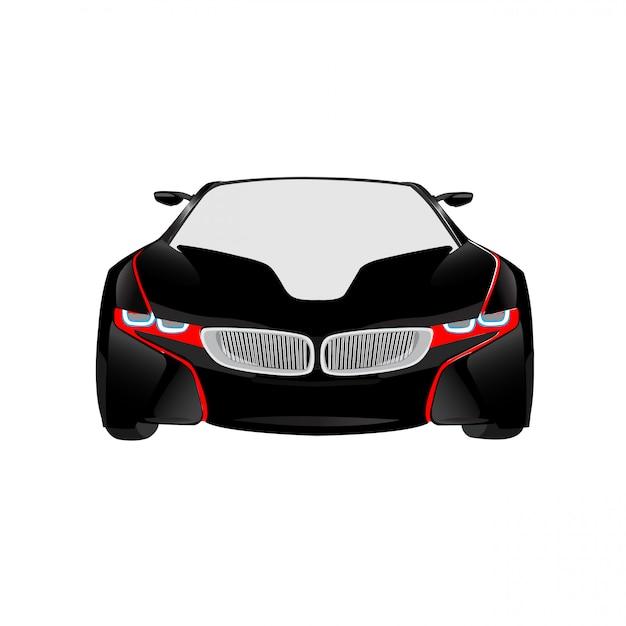 新しいモデルの車のベクトルのイラストは、完全に編集可能な形式 Premiumベクター