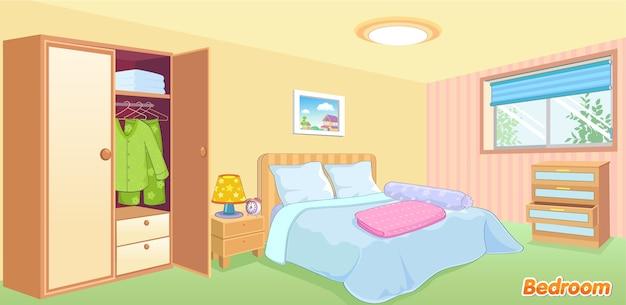 ベッドルーム Premiumベクター