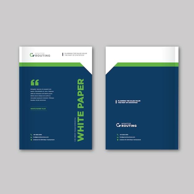 カタログ、小冊子、パンフレットの型板 Premiumベクター