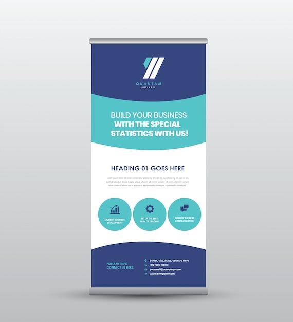 ビジネスロール立つバナー&ポスターデザイン Premiumベクター