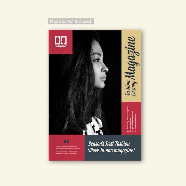 ファッションルックブックパンフレット&マガジンカバーデザイン Premiumベクター