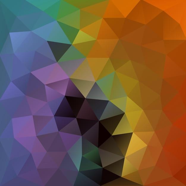 錆びたオレンジと鳩ブルーの多角形の背景 Premiumベクター