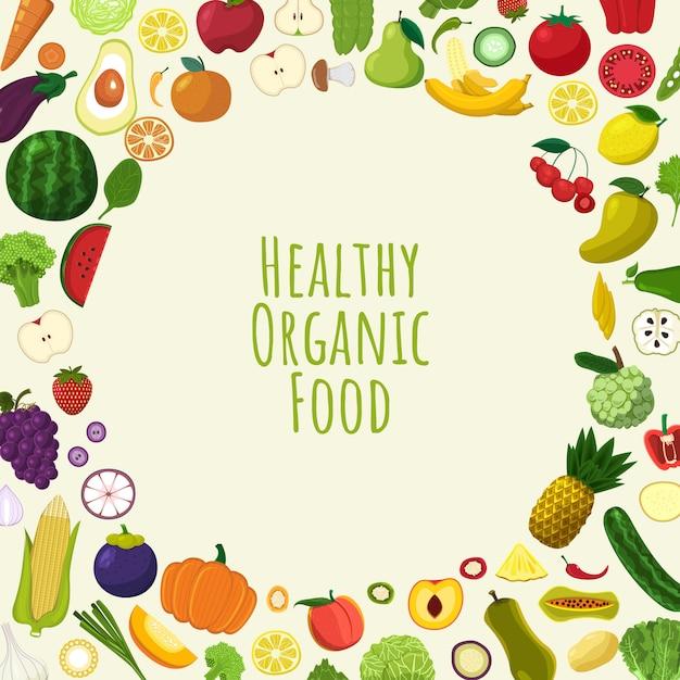 健康的なオーガニック食品 Premiumベクター