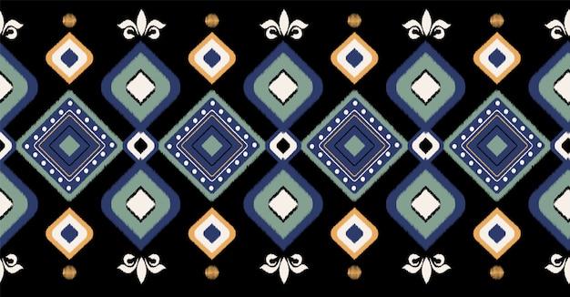アフリカの幾何学的なシームレスパターン Premiumベクター