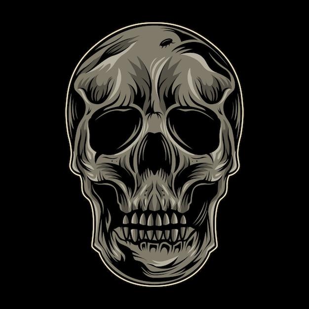 頭蓋骨ベクトル分離ヘッド Premiumベクター