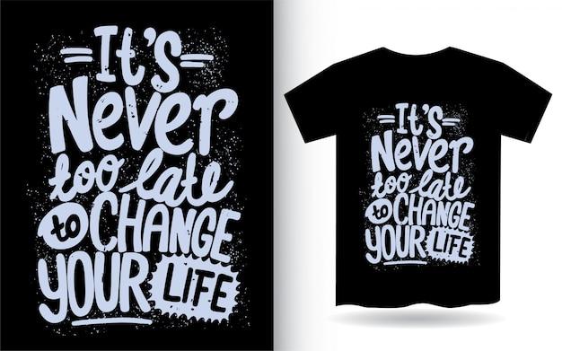 Ручной обращается мотивационные цитаты типографии для футболки Premium векторы