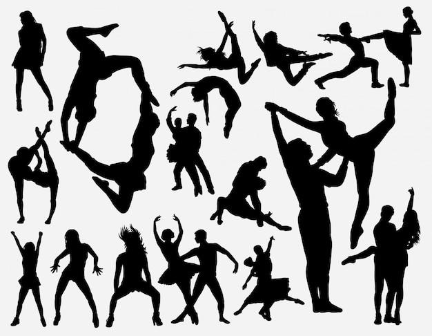 ダンストレーニングシルエット Premiumベクター