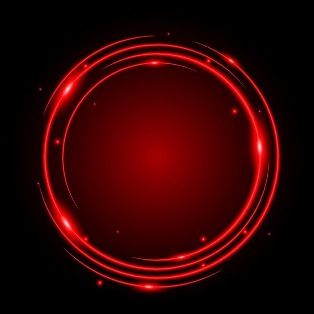 抽象的なサークルライトレッドフレームベクトルの背景 Premiumベクター