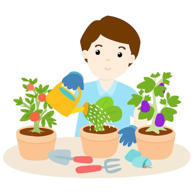 Поздравление для, дети поливают цветы картинки для детей