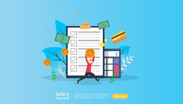 給与支払いの概念 Premiumベクター