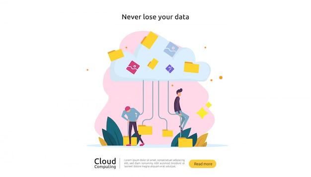 クラウドデータコンピューティング Premiumベクター