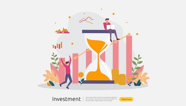 事業投資の図 Premiumベクター
