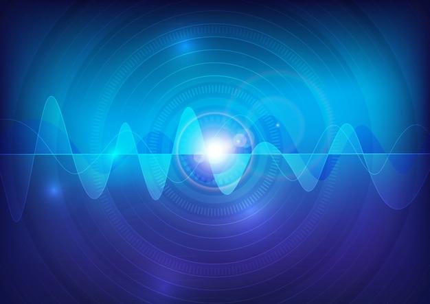 ウェーブサウンドベクトルパルス抽象的な技術の背景 Premiumベクター
