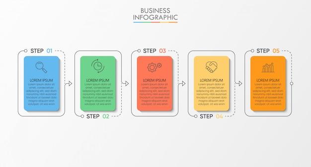 ビジネスデータの視覚化タイムラインインフォグラフィックテンプレート Premiumベクター