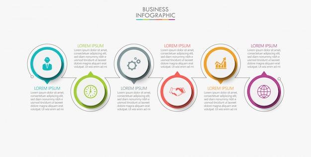 Визуализация бизнес-данных Premium векторы