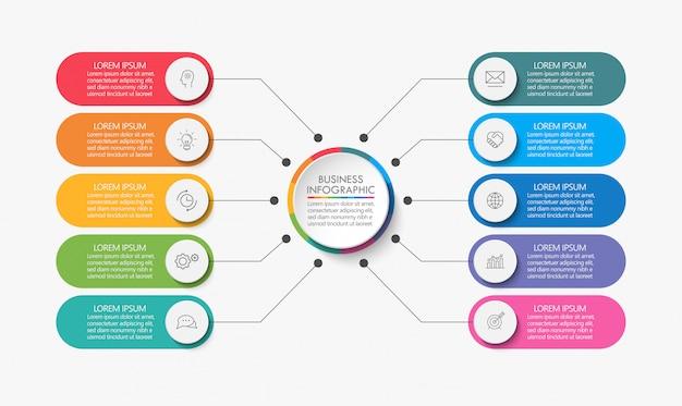 Презентация бизнес круг инфографики шаблон Premium векторы