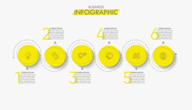 Дизайн инфографики иконки временной шкалы визуализации бизнес-данных Premium векторы