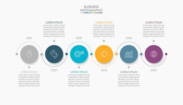 Визуализация бизнес-данных. график инфографики иконки, предназначенные для абстрактного шаблона Premium векторы