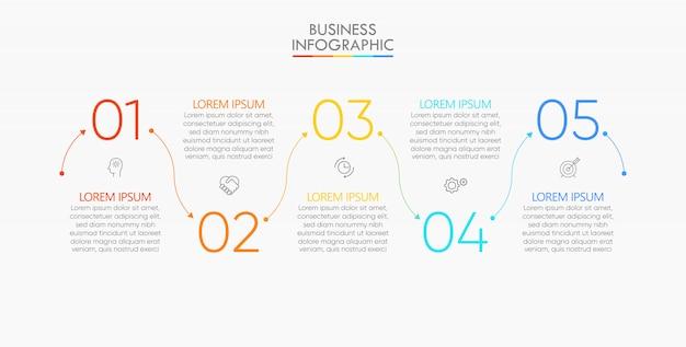 Шаблон презентации бизнес инфографики Premium векторы