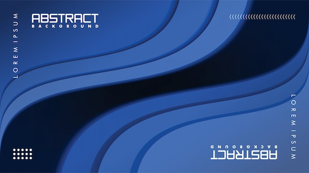 Современный абстрактный фон в стиле бумажного ремесла Premium векторы