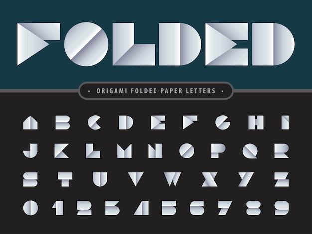 折り畳まれたアルファベットの文字と数字のベクトル Premiumベクター