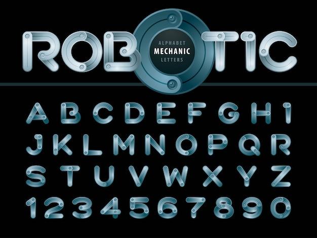 アルファベットの文字と数字 Premiumベクター
