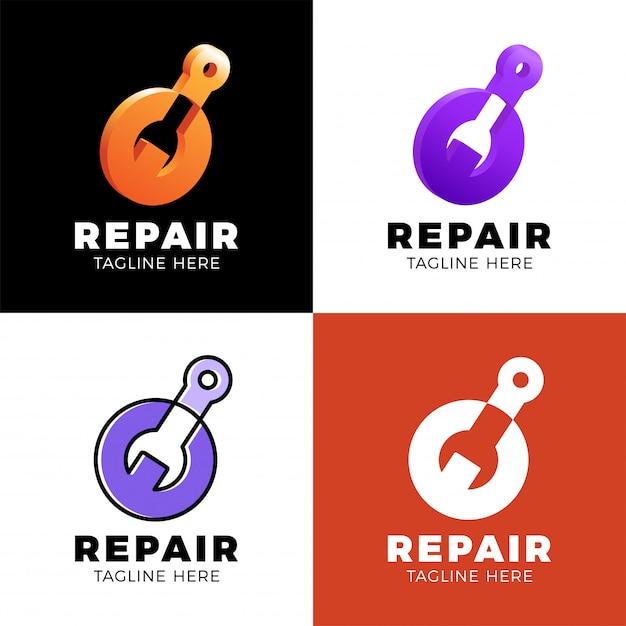 ロゴ修理の設定 Premiumベクター