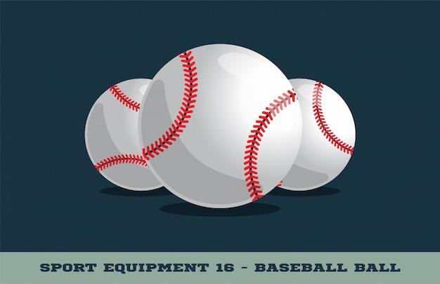 Значок бейсбольный мяч Premium векторы