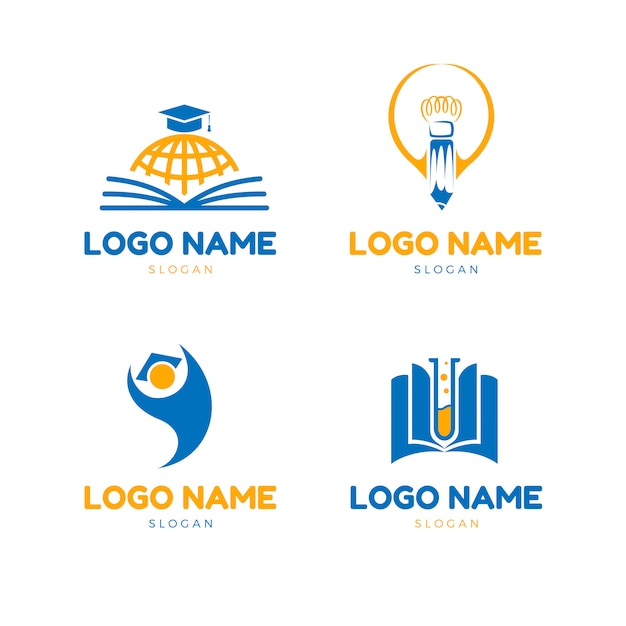 現代教育のロゴ Premiumベクター