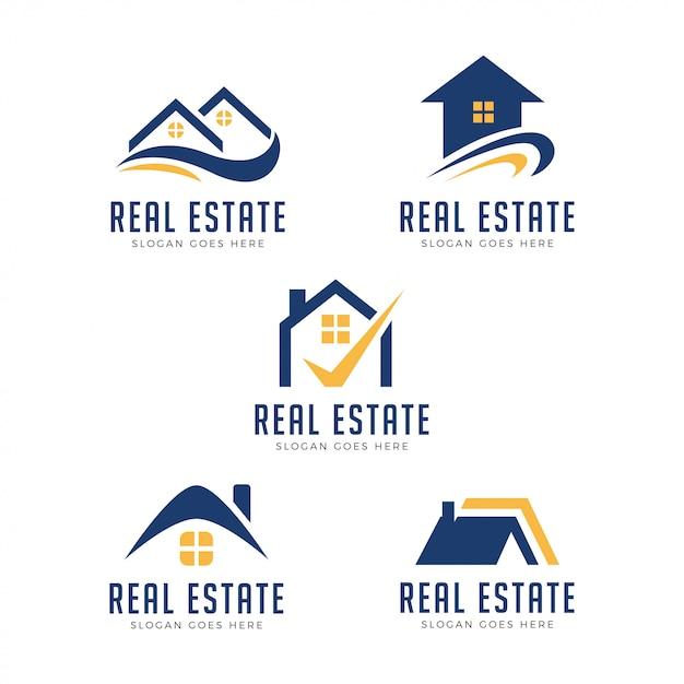 Современная недвижимость логотип Premium векторы
