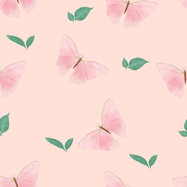 美しい蝶のシームレスパターン Premiumベクター