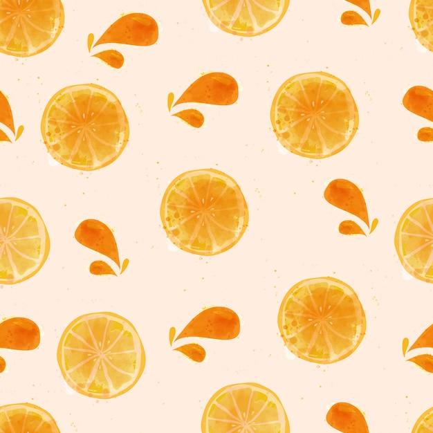 水彩レモンのシームレスパターン Premiumベクター