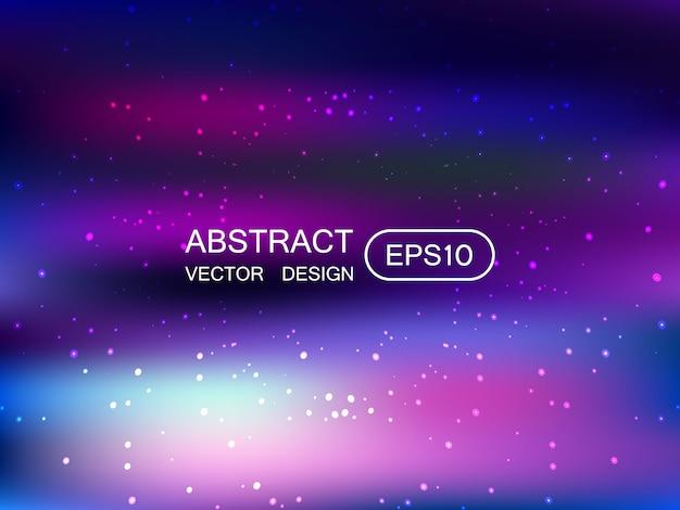 星で抽象的なぼかし多色の背景 Premiumベクター