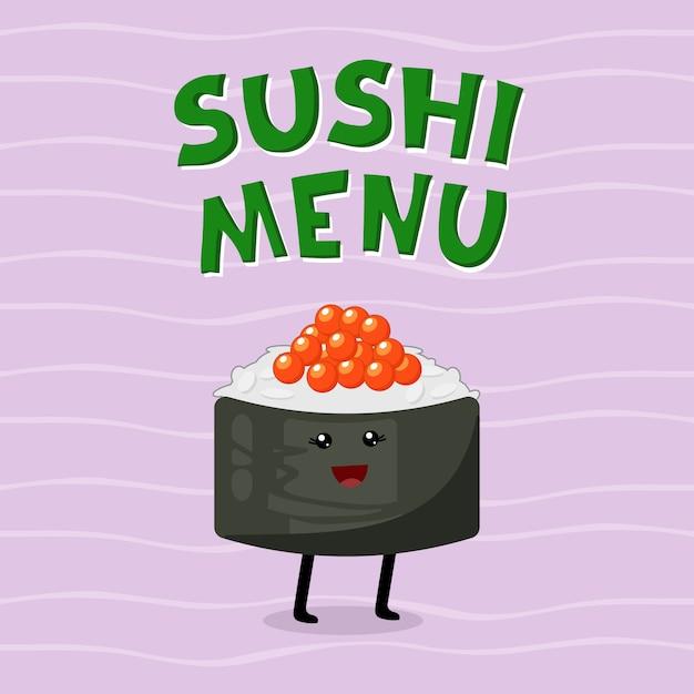 Симпатичные иллюстрации азиатской кухни. Premium векторы