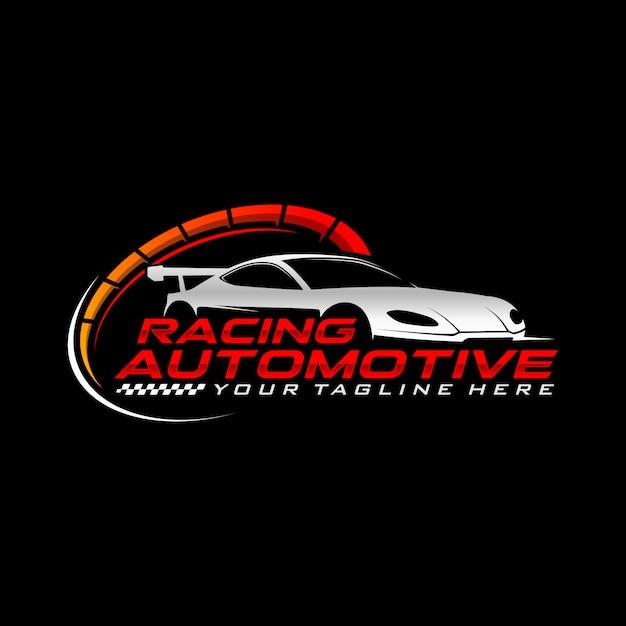レーシングカーのロゴ Premiumベクター