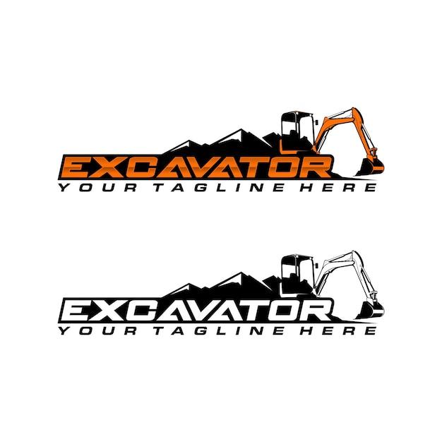 Шаблон логотипа экскаватора Premium векторы