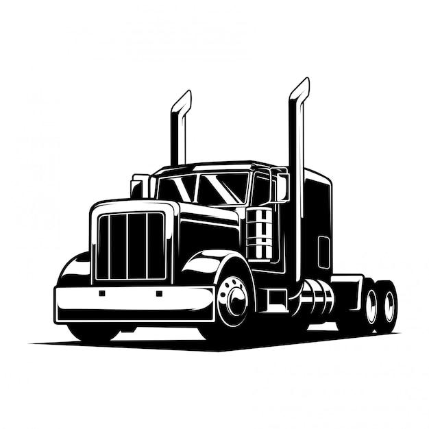 トラックの図 Premiumベクター