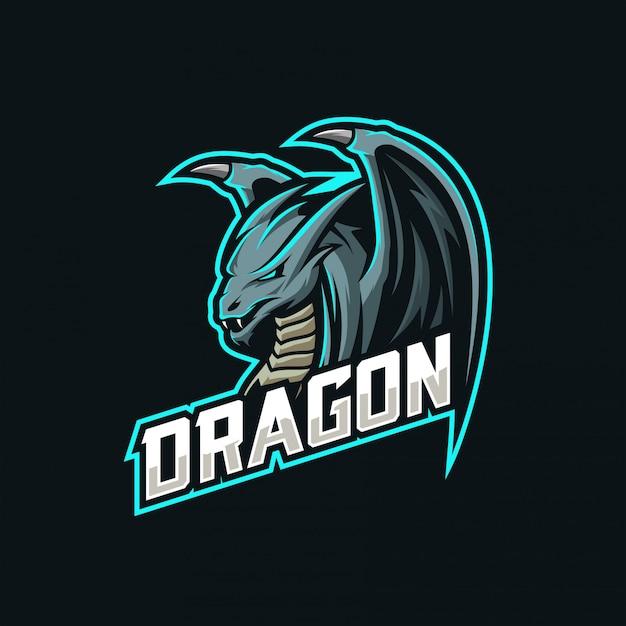 Логотип талисмана дракона Premium векторы