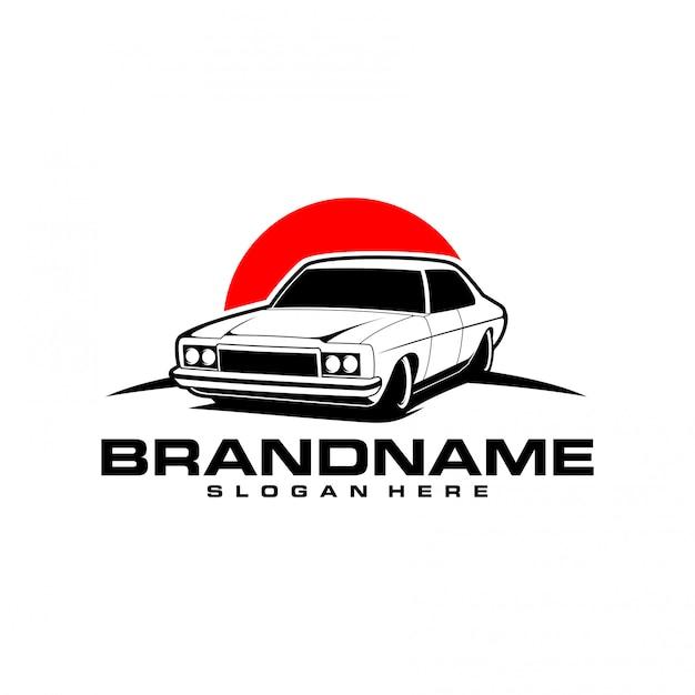Классический автомобильный логотип Premium векторы