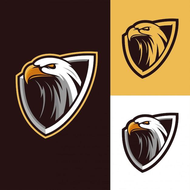 Логотип талисмана орла Premium векторы