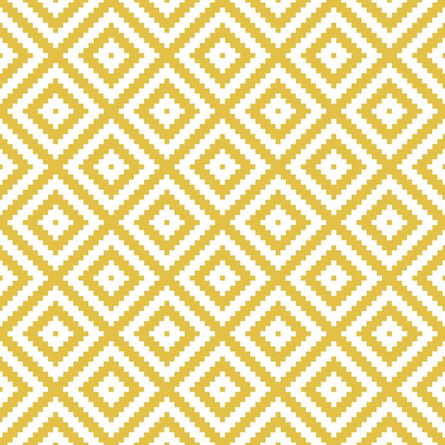 現代の幾何学的な菱形シームレスパターン。 Premiumベクター