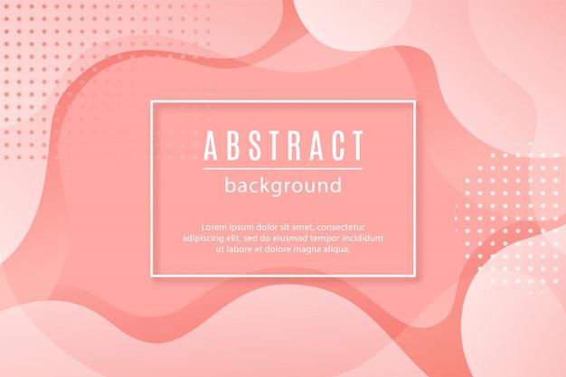 ピンクの流体図形と抽象的な背景。 Premiumベクター